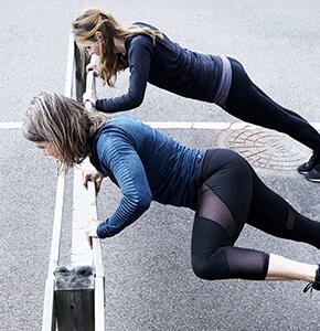 Motion på jobbet Sjælland, Udendørs træning